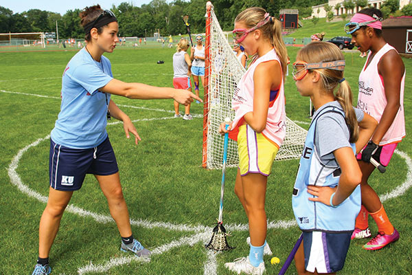 Lax Camps - Girls Lacrosse Drills - Attacking From Behind Goal Practice