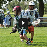 Lax Training - Boys Lacrosse Camps 1v1 Drill Play Button