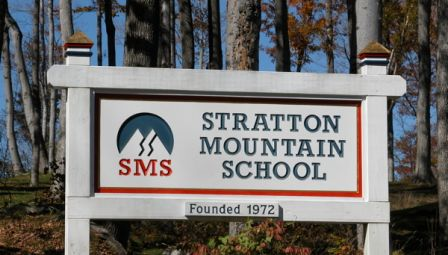 Stratton School Sign