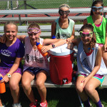 Group Water Break at Lax Camp
