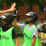 Lacrosse Camp Training - Coach & Player High Five